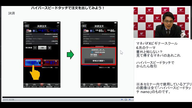 HyperSpeed Touchでかんたん取引